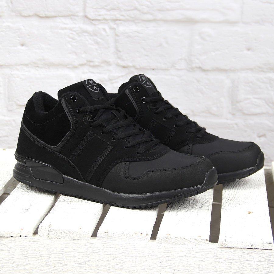 Czarne buty męskie skórzane ocieplane McArthur