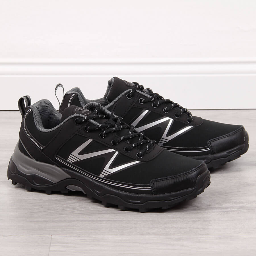 Buty sportowe trekkingowe czarne Atletico