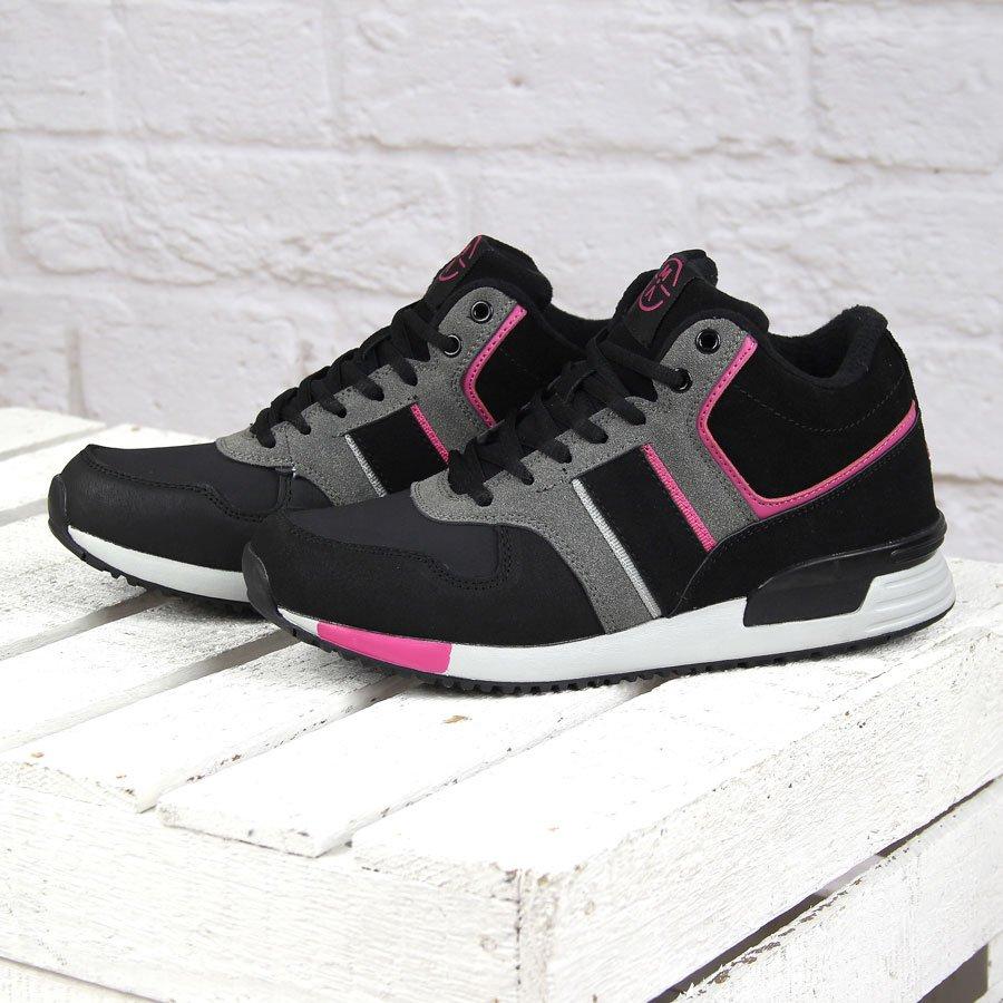 Półskórzane buty sportowe damskie ocieplane czarne McArthur