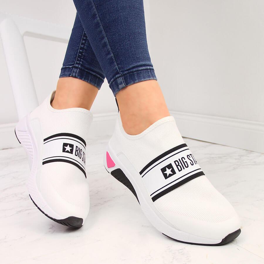 Buty sportowe damskie slip on białe Big Star HH274538