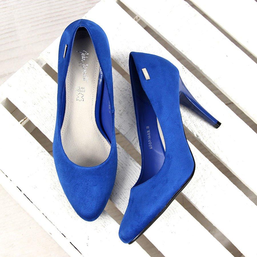 d49bfa7031 Chabrowe czółenka szpilki z ekozamszu Wishot. Para idealna – odpowiednie  buty do sukienki na wesele